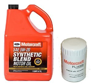 5w20 Synthetic Oil >> Motorcraft 5qt 5W-20 Synthetic Blend Motor Oil and Filter for Ford Focus Zetec