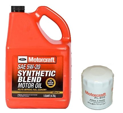 Motorcraft 5qt 5w 20 Synthetic Blend Motor Oil Filter