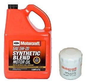 Motorcraft 5qt 5w 20 Synthetic Blend Motor Oil Filter
