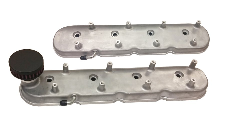 CFM Performance Billet Valve Cover Breather Kit for Holley LS Valve Covers