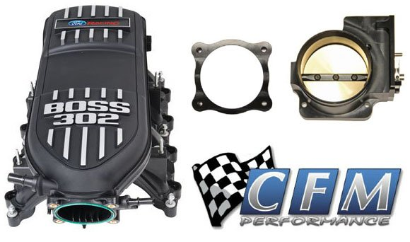 Boss 302 Intake Manifold >> Ford Racing Boss 302 Intake Manifold Cfm 90mm Throttle Body For
